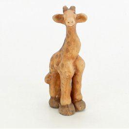 Keramická dekorace motiv žirafy