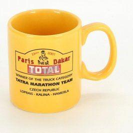 Keramický hrnek žlutý Paris Dakar 2001