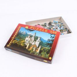 Puzzle se zámkem Neuschwanstein 500 dílků