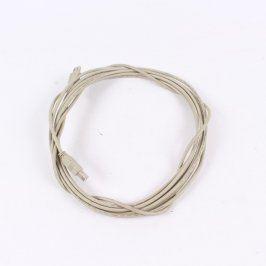USB A-B propojovací kabel šedý délka 520 cm