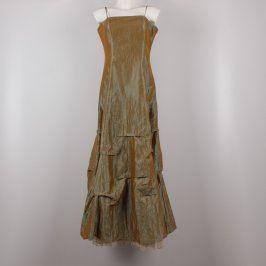 Plesové šaty Mard Collection zlatobéžové