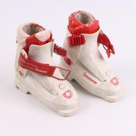 Lyžařské boty Dynafit bíločervené