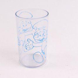 Plastový pohár s dekorem Šmoulové