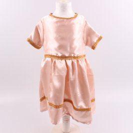 Dětský kostým lesklé šaty odstín růžové