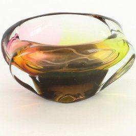 Popelník z barevného hutního skla