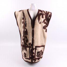 Dámská vesta béžovohnědá s kapsami