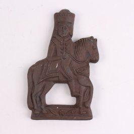 Dekorativní soška na zeď muž na koni