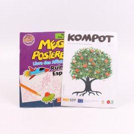 Omalovánky Mega Posterboek a časopis Kompot