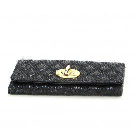 Dámská peněženka lesklá černá