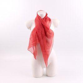 Dámský šátek červené barvy