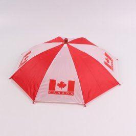 Deštník s gumou na připevnění na hlavu