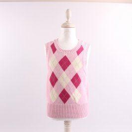 Dětská vesta H&M odstín růžové se vzory