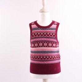 Dívčí pletená vesta H&M multikolor