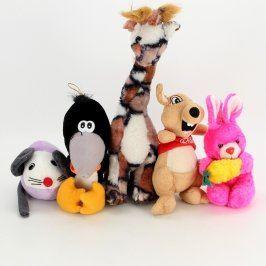 Mix plyšových hraček: 5 ks zvířátek
