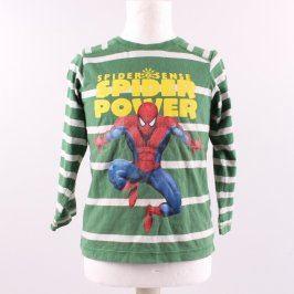 Dětské tričko H&M zelené motiv Spiderman