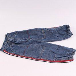 Dětské džíny odstín modré dole do gumy