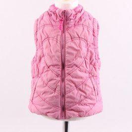 Dětská prošívaná vesta H&M růžová