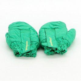 Dětské rukavice Patagonia odstín zelené