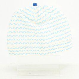Dětská čepice H&M bílá s modrými vlnkami