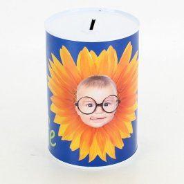 Dětská kasička s motivem miminka a květiny