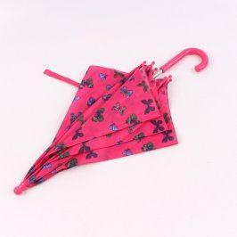 Dětský deštník růžový s motýlky