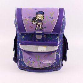 Školní taška Herlitz fialová s holčičkou