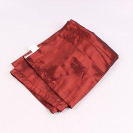 Závěs lesklý odstín hnědo červené