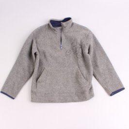 Dětská mikina flísová odstín šedé