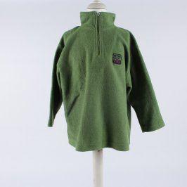 Chlapecká mikina fleesová zelená