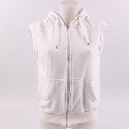 Dámská vesta bílá s kapucí
