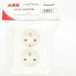 Dvojzásuvka ABB Classic 5512C-2349 B1W