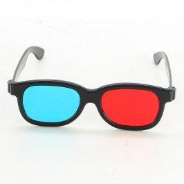 Plastové 3D brýle s barevnými skly