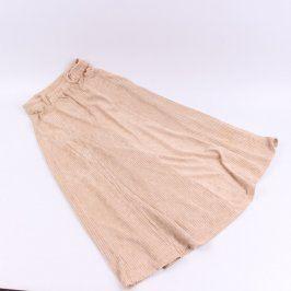 Dámská manšestrová sukně odstín béžové