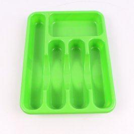 Plastový příborník Heidrun zelený