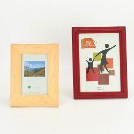 Dřevěné fotorámečky na postavení - 2 ks