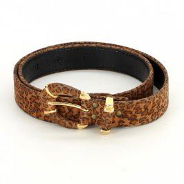 Dámský pásek s leopardím motivem
