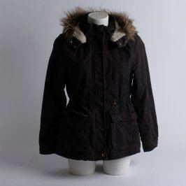 Dívčí bunda s kožíškem H&M černá
