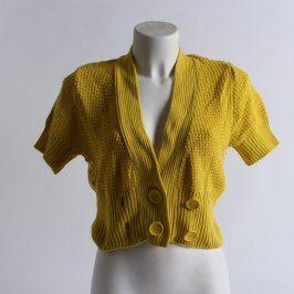 Dámské bolerko H&M sytě žluté