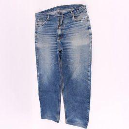 Pánské džíny tříčtvrteční modré