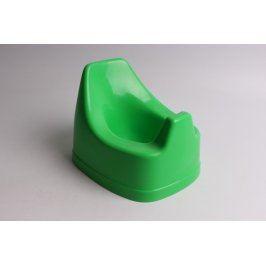 Dětský nočník zelený plastový s opěrkou
