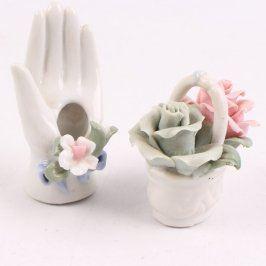 Porcelánová dlaň a košíček