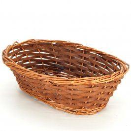 Dekorativní košík pletený oválný