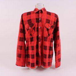 Pánská košile červeno černá