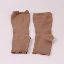 Silonové ponožky s lemem hnědé