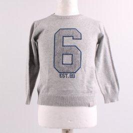 Dětský svetr Reserved odstín šedé s číslem 6
