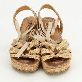 Dámské sandále La Redoute Création béžové