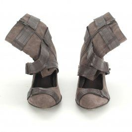 Dámská kotníčková obuv s odhaleným nártem
