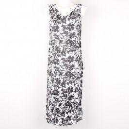 Dámské letní šaty bíločerné