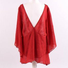 Dámská halenka H&M červená s volnými rukávy