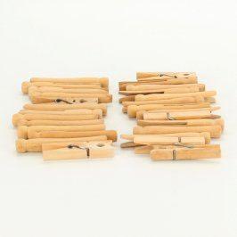 Sada dřevěných kolíčků na prádlo